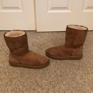 UGG Shoes - Ugg chestnut suede classic short sheepskin boots 6